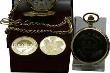 THE BEATLES Signed Pocket Watch and Gold Coin Luxury Gift Set in Case Autographs