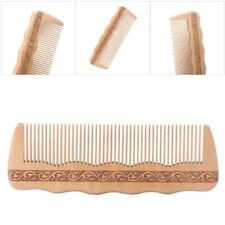 Hair Engraved Peach Wood Natural Wooden Comb Anti-static Combs for Makeup