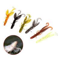 12Pcs/Set Fishing Bait Soft Lure Artificial Shrimp Glow 5.8cm1.2g Crankbait Jig