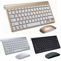 2.4G Wireless Keyboard Mouse Combo Set Mini Multimedia For Notebook Laptop Mac