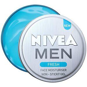 NIVEA Men Fresh Face Moisturizer Gel - Non Sticky & Light Moisturization, 30 ml