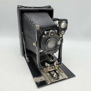 Vintage 10x15 Folding Bed Camera DRP Compound Shutter / Staeble 165mm F6.3 Lens