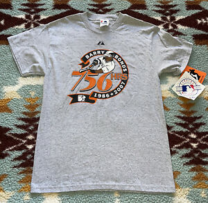 2007 Majestic Barry Bonds San Francisco Giants 756 Home Runs T-Shirt Size M NOS