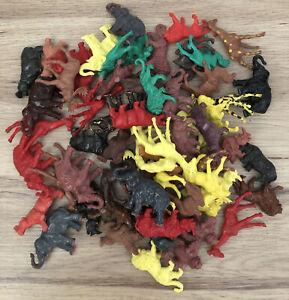 WILD SAFARI ZOO ANIMALS Over 60 Mixed Colourful Small Plastic Toys VGC