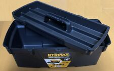 """New 16"""" Plastic Tool Box with Handle Tray & Compartment Storage"""