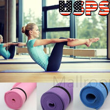 6mm Non-slip Yoga Mat Health Lose Weight Exercise Pad Sport Fitness Durable USPS