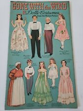 1940 Original Gone With The Wind Uncut Paper Doll W/18Dolls & Costumes