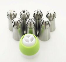 7PCS Spherical Nozzles Russian Piping Tips Coupler Ball Icing Pastry Baking Tool