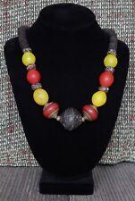 Africa, Tibet,Europe Handmade Artisan Antique Bead necklace Ancient Terracotta