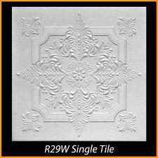 Ceiling Tiles Glue Up Styrofoam 20x20 R29 White Pack of 100 pcs 270 sq ft