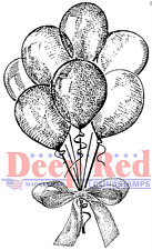 Deep Red Rubber Cling Stamp Party Festive Balloon Cluster Bouquette