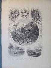 Hunlocks Creek Stone Quarry North Susquehanna River Pennsylvania Antique 1872