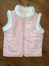 Janie and Jack NWT sz 6 English Countryside  Pink Faux Fur Vest Jacket