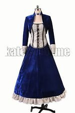 Bioshock Infinite Elizabeth Velvet Dress Coat Halloween Party Cosplay Costumes