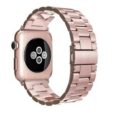 For 42MM apple Watch Series 3 2 1, Rose Gold Stainless Steel Band For iwatch