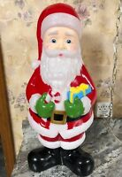 """Blow mold 23"""" Christmas Santa Claus Outdoor Yard Present Candy Cane New"""