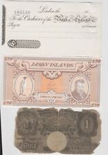 More details for eight old paper money & oddments in fine or better condition