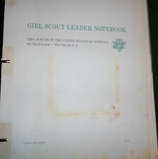 Vintage 1963 Girl Scout Leader Notebook Girl Scout IN GREAT SHAPE