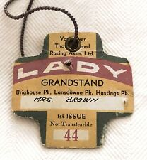 Vintage  GRAND STAND Badge Ticket Pack Vancouver Thoroughbred Horse Racing Assoc