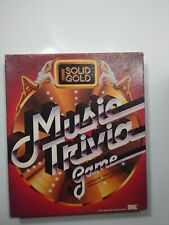 Solid Gold Music Trivia Game Complete And Very Good Condition