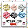 "12"" Metallic Pearl Confetti Latex Balloons for Birthday Party UK Mixed"