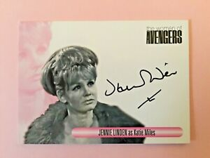 Jennie Linden as Katie Miles The Women Of The Avengers Autograph Signed Card