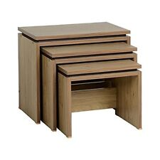 New Seconique Charles Nest of Tables in Oak Office Living Room Furniture