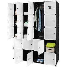Portable Closet Clothes 20 Cubes Wardrobe Bedroom Armoire Storage Organizer