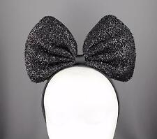 Black Big Huge headband bow mouse ears hair band accessory minnie cosplay anime