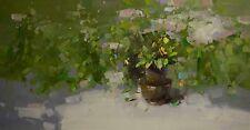 Garden Piece Original Oil Painting Contemporary Handmade Artwork Large size