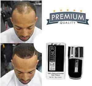 Natural Real Hair Fibers by HAIR ILLUSION – Hair Thickening Hairline Enhancement