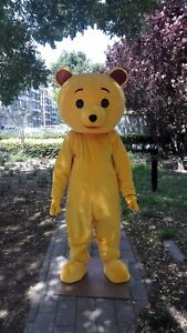 Yellow Bear Mascot Costume Cosplay Party Game Dress Outfit Halloween Adult Hot