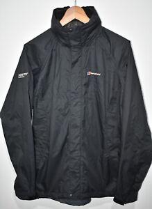 Berghaus Gore-Tex Paclite Shell Waterproof Jacket Hooded Black Womens Size 14