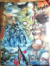SIMON BISLEY  INDIAN GIRL HEAVY METAL  18x24  POSTER   2008  RARE