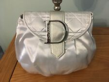 Dior Silver Clutch/Pouch/Makeup/Toiletry Bag BNWT