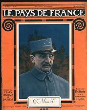 WWI Portrait Général Olivier Mazel Uniforme Saint-Cyr  France 1916 ILLUSTRATION