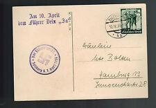 1938 Salzburg Germany Austria Anschluss Postcard Cover to Hamburg
