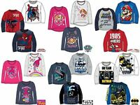 Boys Girls Kids Character Long Sleeve T-Shirt Top age 2-12 year