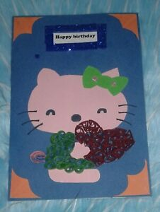 Handmade Quilling Birthday Card,Greeting Cards, Invitation with Envelope and box