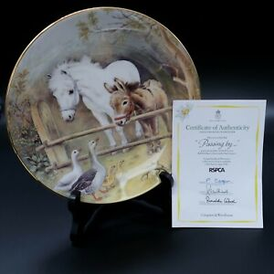 Royal Worcester The 150th Anniversary of The RSPCA Passing By Collectors Plate.