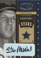 2004 Throwback Threads Century Stars Signature #53 Stan Musial /25 Auto