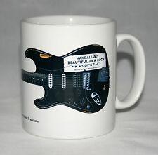 Guitar Mug. Kurt Cobain's Vandalism Stratocaster Illustration.