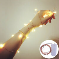 2M 20LED Battery Operated String Fairy Light Warm White Christmas Decoration