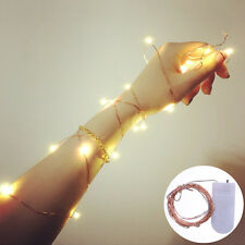 NO Battery Operated String Fairy Light Warm White Christmas Decoration 2M 20LED