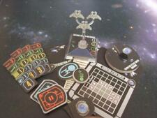 Star Trek Attack Wing Federation Attack Fighters LE ship and cards