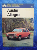 AUSTIN ALLEGRO Pearsons Illustrated Car Servicing Manual/Guide RAC Approved BOOK