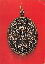BR90210 miniature case french art enamelled gold postcard london museum  uk