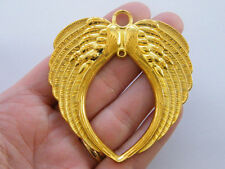 1 Angel wing connector charm gold tone GC75