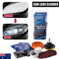 Car Headlight Restoration Repair Tool Kit Headlamp Bulbs Lens Cleaner Polisher