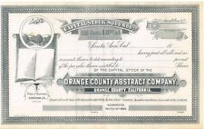 Orange County Abstract Company > 1889 Santa Ana California stock certificate